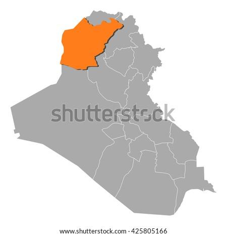 Mapa de vector libre de irak arte libre del vector en vecteezy map iraq ninawa gumiabroncs Images
