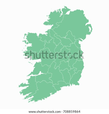 map ireland map each city and