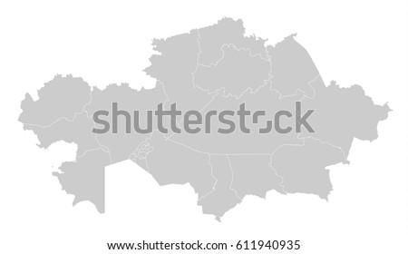 Map -Kazakhstan