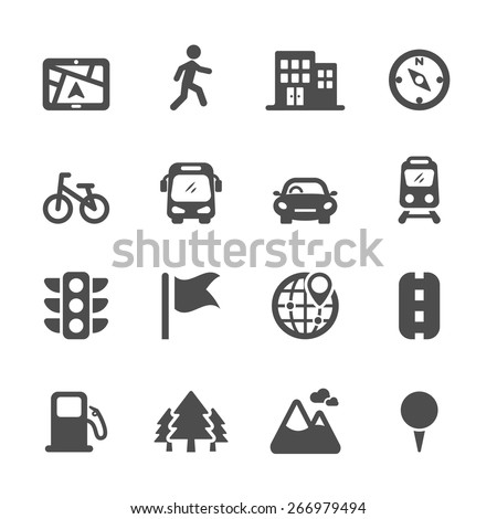 map location icon set 2  vector