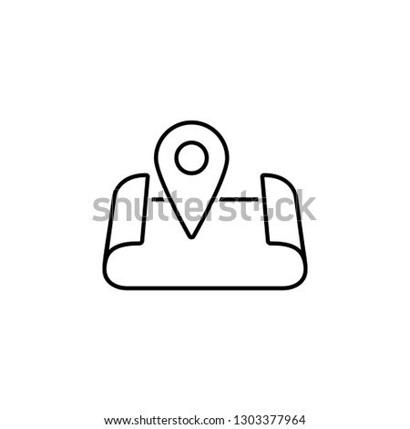 Map, location, navigation  icon. Element of Web Navigation icon for mobile concept and web apps. Detailed Map, location, navigation  icon can be used for web and mobile