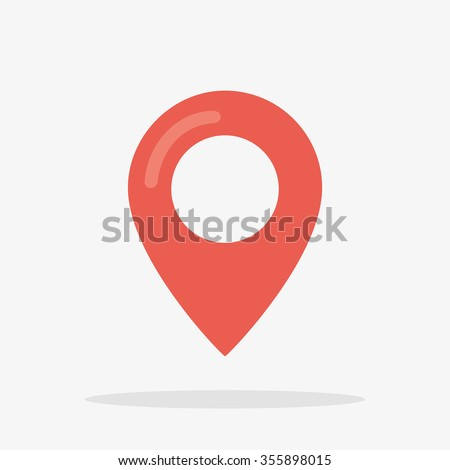 Map Marker Icon in Vector, Red Marker