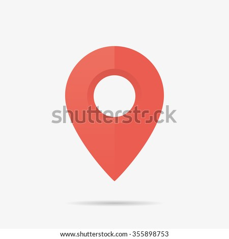 Map Marker Icon in Vector, Red Point
