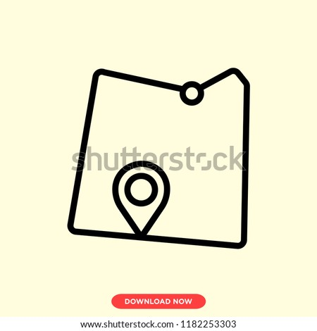 Map modern vector style. Map location icon for web and app. Map placeholder icon.