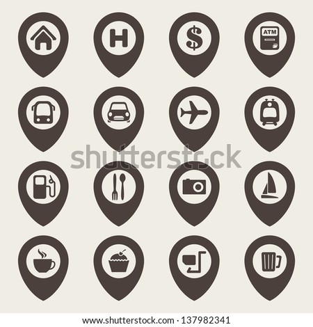 Charming free vector map icons pics