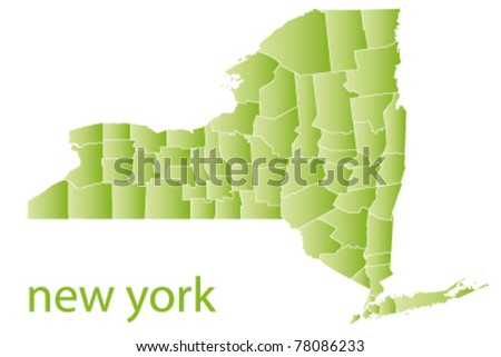 map od new york state, usa - stock vector