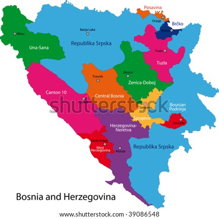 maps of bosnia and herzegovina. of Bosnia and Herzegovina