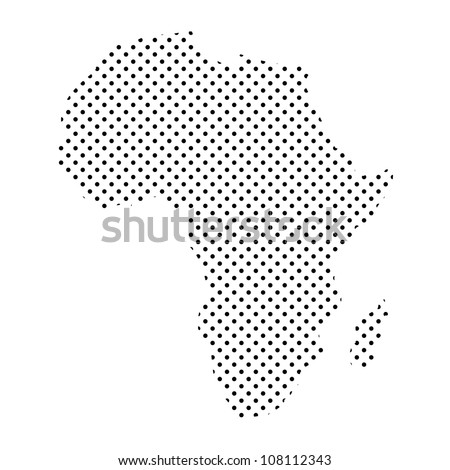 Vector Images, Illustrations and Cliparts: Map of Africa from Dots ...