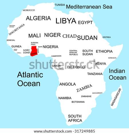 Map of Africa, Ghana