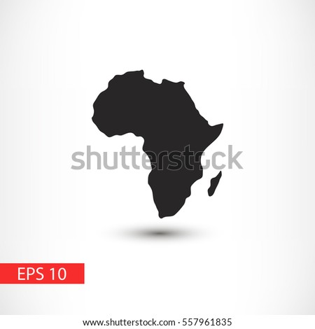 Map of Africa icon
