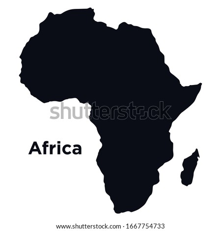 Map of Africa, isolated on white - vectorMap of Africa, isolated on white - vector