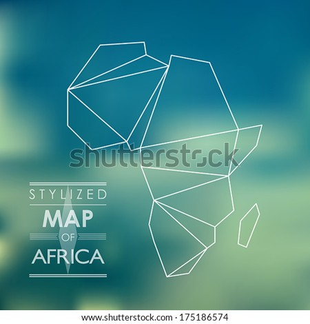 map of africa. map concept
