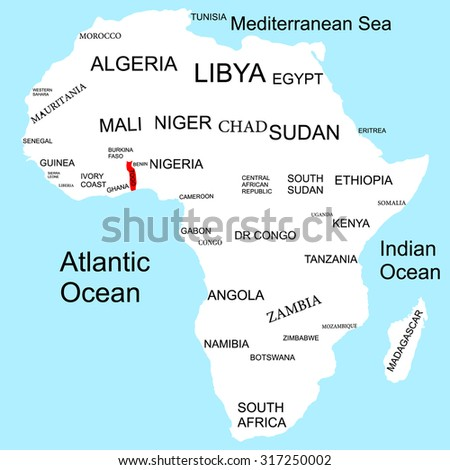 Map of Africa, Togo