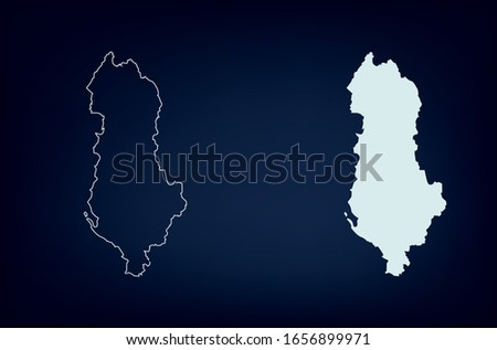 Map of Albania. Abstract design, vector illustration by using adobe illustrator. Albania map. Albania Outline map