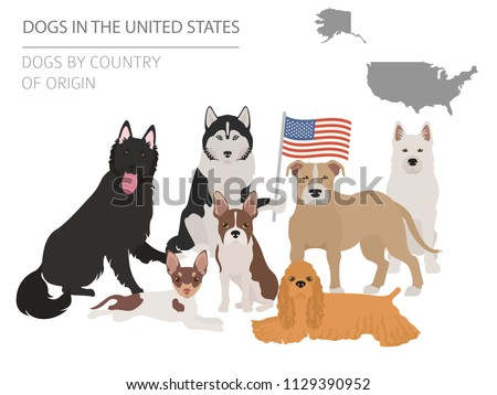 map of american dog breeds