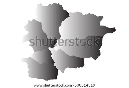 map of andorra vector