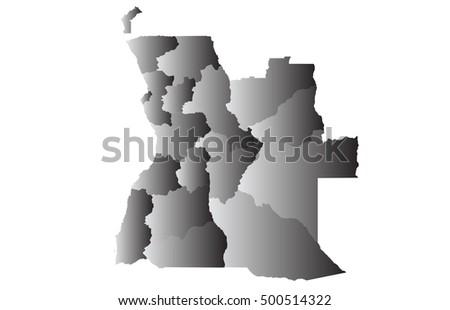 map of angola vector