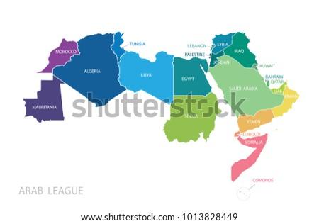 Emiratos rabes unidos vector mapa descargue grficos y vectores map of arab league vector gumiabroncs Choice Image