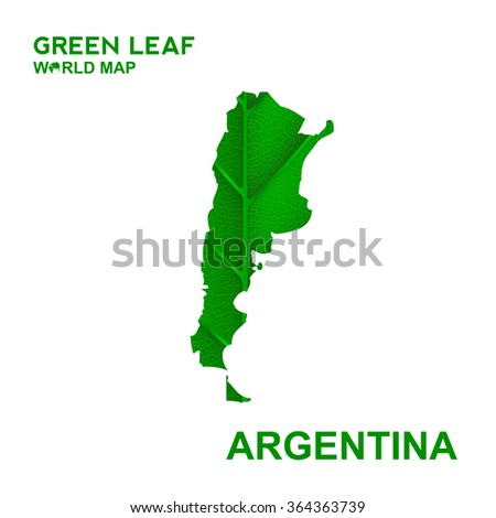 map of argentina nature green