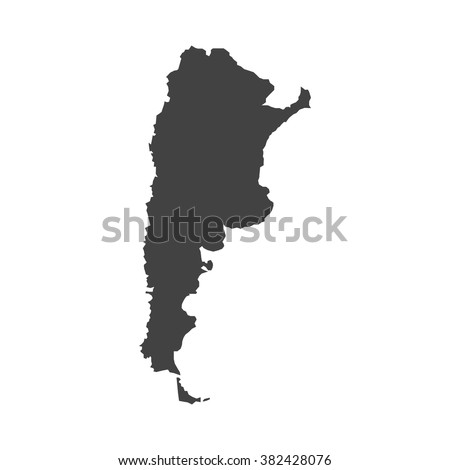 map of argentina vector design