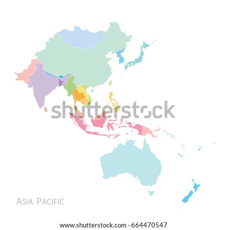 Map of Asia Pacific.