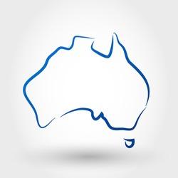 map of australia. map concept