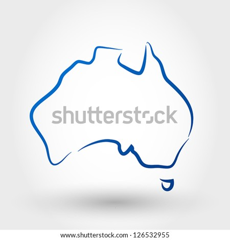 map of australia. map concept