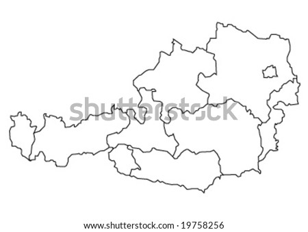 maps of austria. stock vector : map of austria