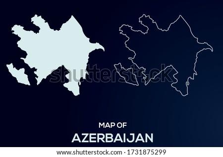 Map of Azerbaijan. Abstract design, vector illustration by using adobe illustrator. Azerbaijan isolated map. Azerbaijan Outline map. Editable Map design for anywhere uses.