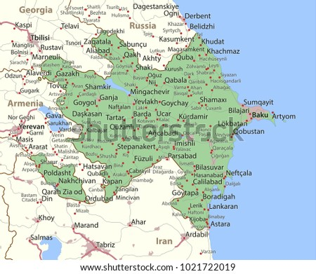 Free azerbaijan map vector download free vector art stock map of azerbaijan shows country borders urban areas place names and roads gumiabroncs Choice Image