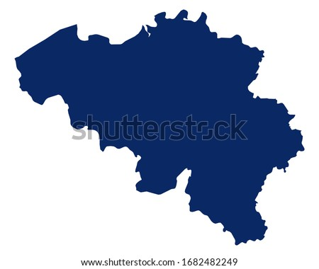 Map of Belgium in blue colour Сток-фото ©