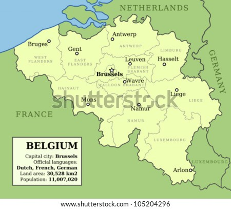 Free Vector Map Of Belgium Free Vector Art At Vecteezy - Brussels on world map