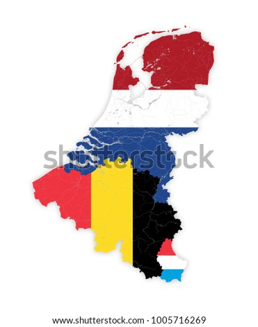 map of benelux countries with