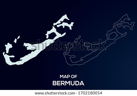 Map of Bermuda. Abstract design, vector illustration by using adobe illustrator. Bermuda map. Bermuda Outline map. Сток-фото ©
