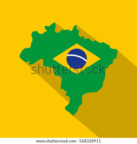 map of brasil icon flat