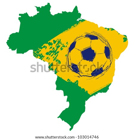 Map of Brazil football emblem