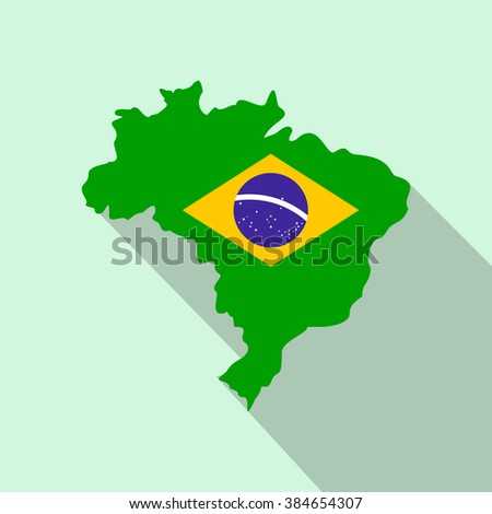 map of brazil icon map of
