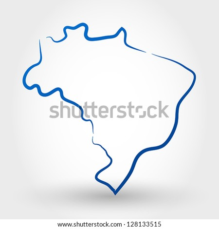 map of brazil. map concept
