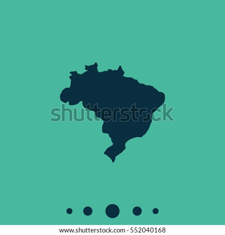 map of brazil simple flat