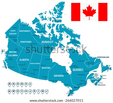 Canada map vector download free vector art stock graphics images map of canada gumiabroncs
