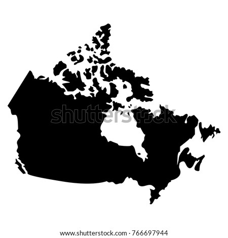 Map Of Canada Silhouette.Shutterstock Puzzlepix