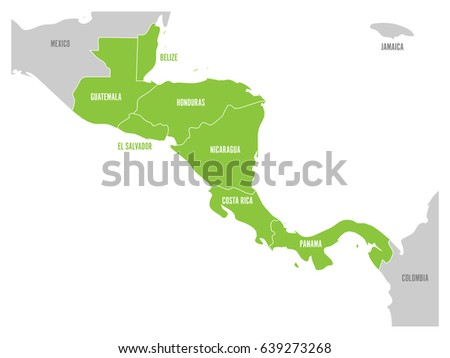 Flat Central America Map Download Free Vector Art Stock - Map of america states