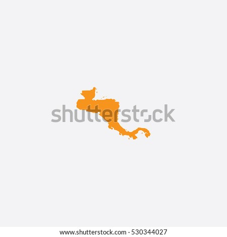 Map of Central America Vector Illustration