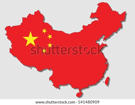 map of china  filled with the