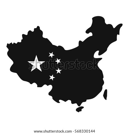 Map of China icon. Simple illustration of map of China vector icon for web