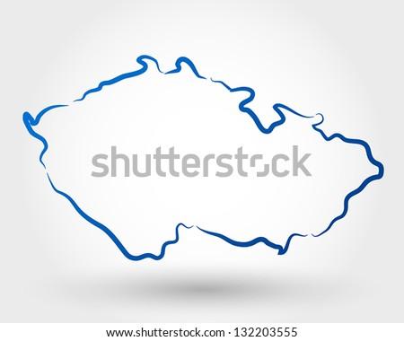 map of czech republic map