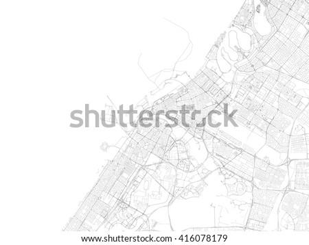 Dubai Map Vector