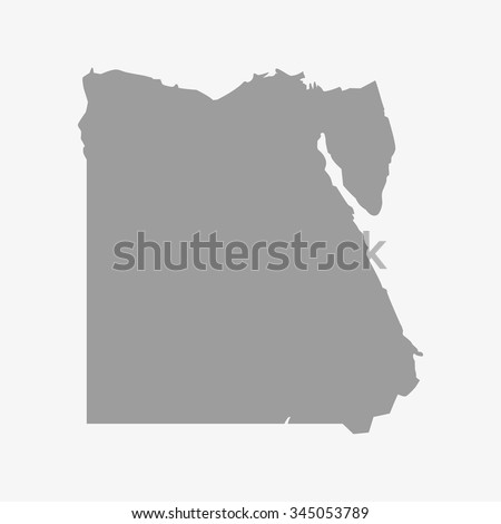 map of egypt in gray on a white