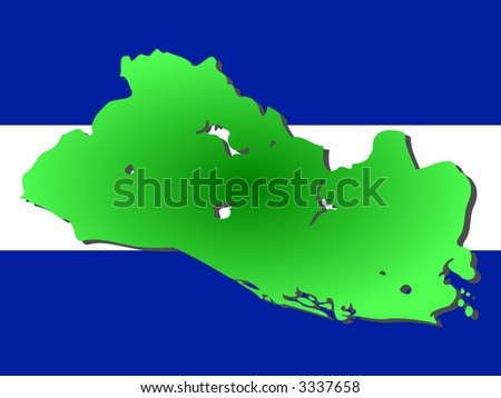 maps of el salvador. stock vector : map of El