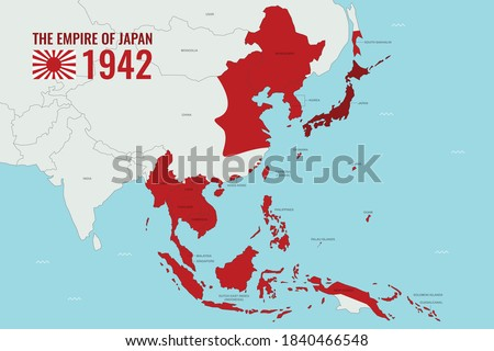 map of empire of japan japanese